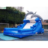 China Double Dolphin Inflatable Backyard Water Slide Bounce House EN14960 Standard on sale