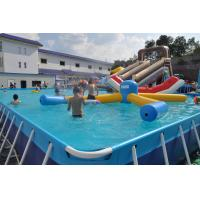 Wholesale Rectangle Metal Frame Paddling Pool 0.9mm PVC Tarpaulin For Water Park from china suppliers