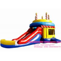 Wholesale Customized Celebration Inflatable Bouncy Castle Happy Birthday Cake Design from china suppliers