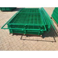 China 50*150mm Hole Pvc Coated Frame Welded Wire  Mesh Fence for Warehouse on sale