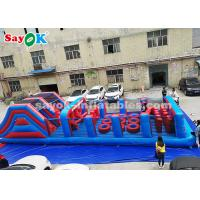 PVC Long Inflatable Obstacle Game For Outdoor Sports , Amusement Park