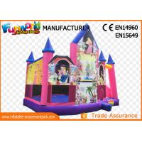 Pink or White Commercial Inflatable Bouncy Castle / Inflatable Jumping Bouncer
