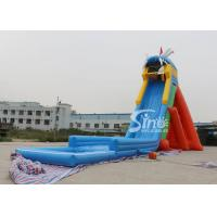 Wholesale China extreme giant adults hippo inflatable slide with pool ended for sea shore water park from china suppliers