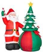 Wholesale Large  Santa claus outdoor decorations  PVC coated nylon for advertising from china suppliers