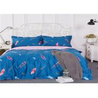 Wholesale Sky Blue Down Pattern Home Bedding Sets King Flowers Pattern / Cotton Bed Sheets from china suppliers