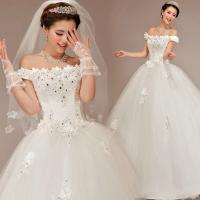 Wholesale White Sweetheart Lace Ladies Wedding Dresses / Womens Princess Wedding Gowns from china suppliers