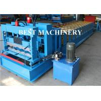 Wholesale Trapezoid Roof Tile Roll Forming Machine YX1100 Russian Type PPGI Material from china suppliers