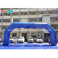 Wholesale Blue PVC 9.14 X 3.65 Meter Inflatable Arch For Event Advertising Easy To Clean from china suppliers
