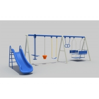 Quality Three People Adjustable STN Small Backyard Swing Sets for sale