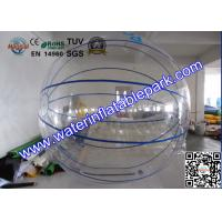 Wholesale Big Blue Strips Floating  Inflatable  Walk On Water Ball For Hire from china suppliers