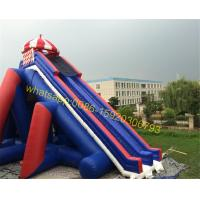 giant blue and red colours water slide