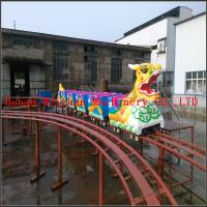 China New design high quality cheapest Amusement Dragon Life Size Fiberglass Train Sliding Dragon on sale