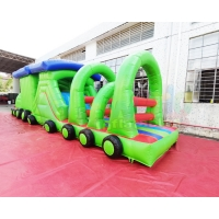 Wholesale Train Bouncy Castle 13.2X4.7X3M Inflatable Obstacle Course from china suppliers