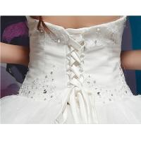 Quality Graceful Diamond Halter Neck Wedding Dresses with Sweep Train for Summer , for sale