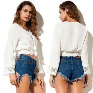 Wholesale Women Chiffon New Style White Blouse from china suppliers