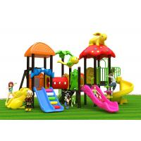 Wholesale One Climbing Tube Kids Outdoor Plastic Slide And Swing Purple Color from china suppliers