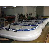 China 14.1 Ft Small Inflatable Boat With Motor , Dive Inflatable Power Boat Abrasion Proof on sale