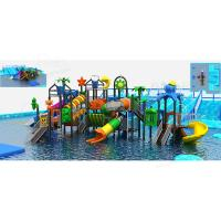 Wholesale Large Size Aquatic Play Equipment , Custom Water Slides Integrated Water Park from china suppliers