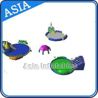 Wholesale Removable Inflatable Water Park Pool , Inflatable Slide And Pool , Inflatable WaterPark With Pool and Slide from china suppliers