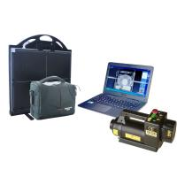 China 150kV 22mm Steel Portable X-ray baggage Inspection System For check point , vehicle on sale