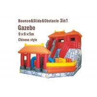 Wholesale Customized Inflatable Bounce Castle Chinese Style Inflatable Gazebo Bouncer With Slide from china suppliers