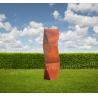 Buy cheap Twist Rhombus Sculpture Huge Corten Steel Product As Residence / Lawn Ornaments from wholesalers