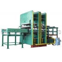 Wholesale 800T Pressure Rubber Hydraulic Molding Vulcanizing Machine with Automatic Mold Sliding for making Condenser seal from china suppliers
