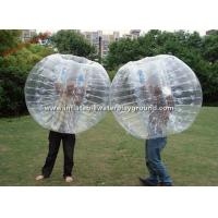 Wholesale Transparent Adults Inflatable Bubble Ball , Bubble Zorb Football For Outdoor Sports from china suppliers