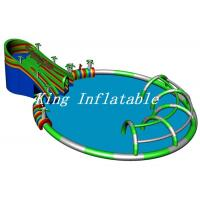 China Outdoor Giant Inflatable Water Park 30m Diameter Constant Blower With Crocodile Slide on sale