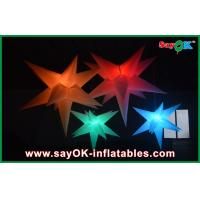 China OEM Holiday Hanging Decorative Led Inflatable Star Blue Red Orange on sale