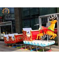Wholesale Christmas Childrens Train Rides , Carnival Train Ride Fiberglass And Steel Material from china suppliers