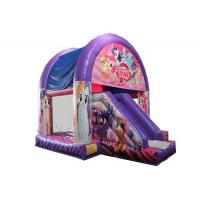 China Ponies Theme Inflatable Bounce House With Slide WSC-265 PVC Material on sale