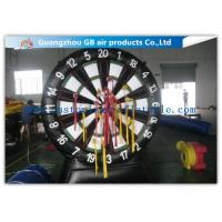 China Giant Inflatable Sports Games Target Shoot / Inflatable Dart Board with Fastener Darts on sale