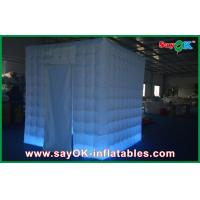 China White Indoor Inflatable Cube Tent , Practical  Family Event Photo Booth Props on sale