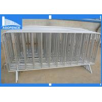 China Galvanized Crowd Control Barriers / Plastic Pedestrian Fencing Barriers on sale