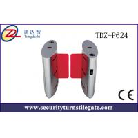 China TCP / IP Full automatic Flap Turnstile sliding Barrier gate for Building on sale