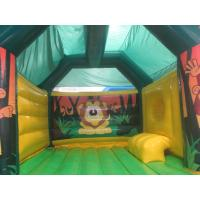 Wholesale Children Fireproof Combo Slide Bounce House Animal Monkey Theme from china suppliers