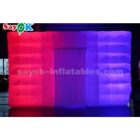 China White Cube LED Light Inflatable Air Tent For Event / Party / Advertising on sale