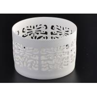 Wholesale Round Pure White Ceramic Candle Holders Heat Resisting ASTM Approve from china suppliers