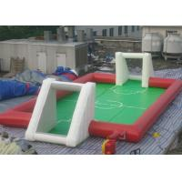 Buy cheap Standar Football Inflatable Sports Games / Soccer Field Sports Equipment With from wholesalers