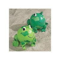 """Wholesale PVC Green Frog Beach Toys Inflatable Animal Beach Balls 10"""" Overall Size Measures 14"""" from china suppliers"""