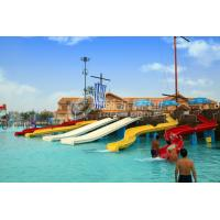 China FRP Kids Combinaton Water Slide By Body Or Raft For Outdoor Water Park Construction on sale