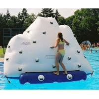 China 3m Height Inflatable Water Sports , Inflatable Climbing Wall With Water Slide on sale