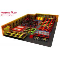 China Indoor Trampoline Park Equipment , High Jump Trampoline Gym Equipment Over 500sqm on sale