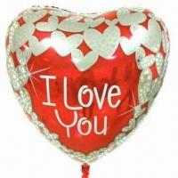 Wholesale Valentine's Day Decoration, Made of Aluminum Foil, Nylon and PE, Available in Heart Shape from china suppliers
