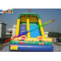 China Water Proof Commercial Inflatable Bouncers / Inflatable Slip And Slide Fire Retardant on sale