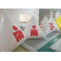Quality White Large Inflatable Buoys Hand Printing CE / UL Air Pump And Repair Kit for sale
