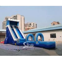 China Outdoor Blow Up Commercial Big Kids Inflatable Water Slides For Water Park 0.55mm Pvc Tarpaulin on sale