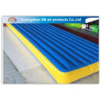 China Blue Inflatable Tumble Track Folding Air Gymnastics Mats for Sports Games on sale