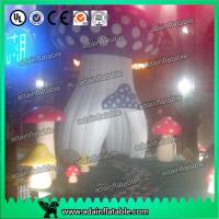 Wholesale Red Yellow Purple Decoration Standing Inflatable Mushroom With led Giant from china suppliers